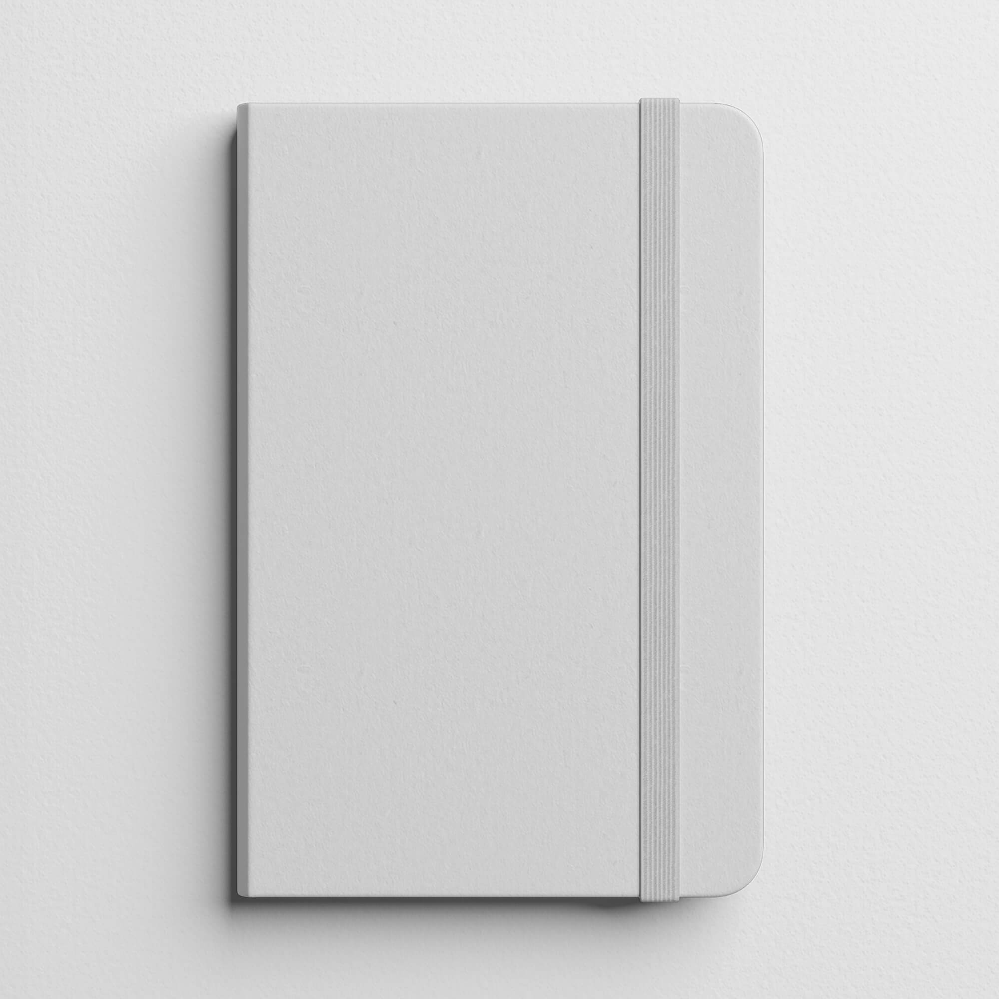 Blank Free Notebook Cover Mockup PSD Template