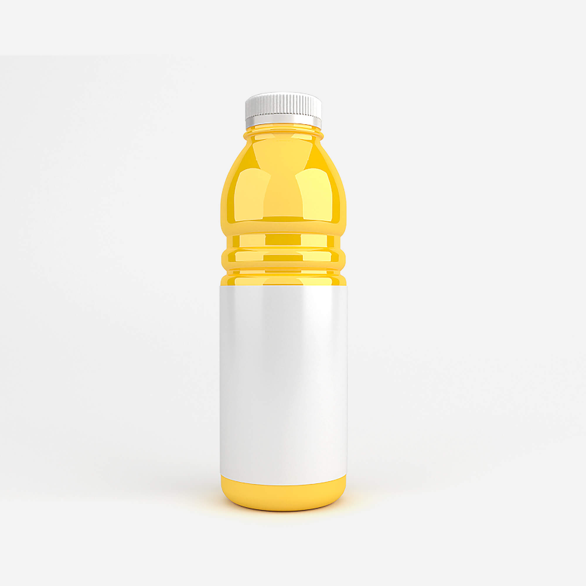 Blank Free Soda Bottle Mockup PSD Template (2)
