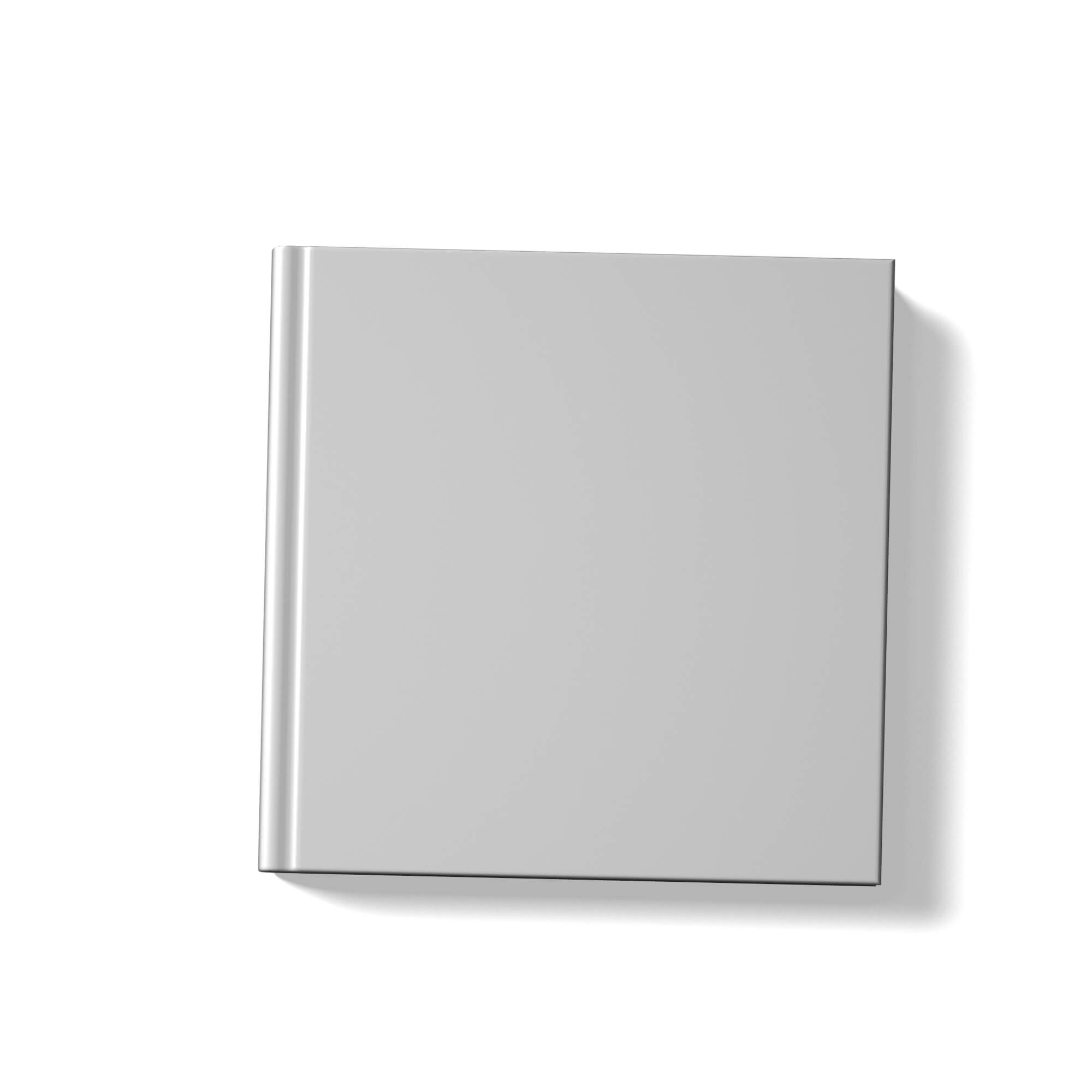 Blank Square Book Cover Mockup Free PSD Template