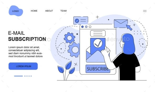 Character is Subscribing on Email