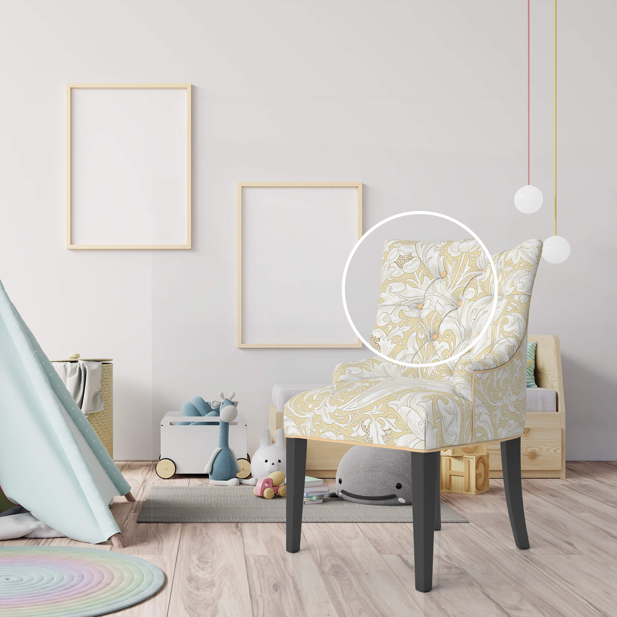 Close Up Of a Free Armchair Mockup PSD Template