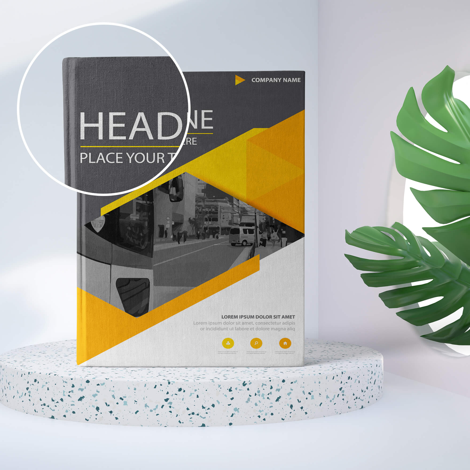 Close Up Of a Free Book Cover PSD Mockup Template