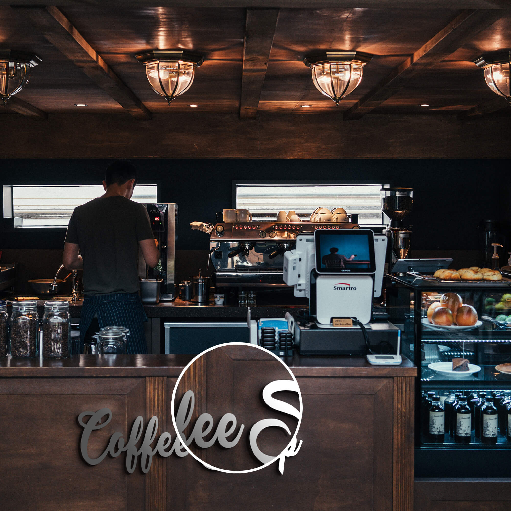 Close Up Of a Free Coffee Shop Mockup PSD Template (1)