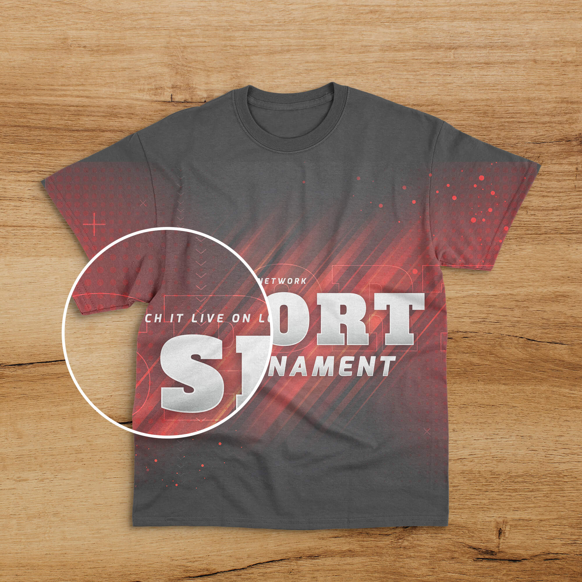 Close Up Of a Free Sports T Shirt Mockup PSD Template (1)