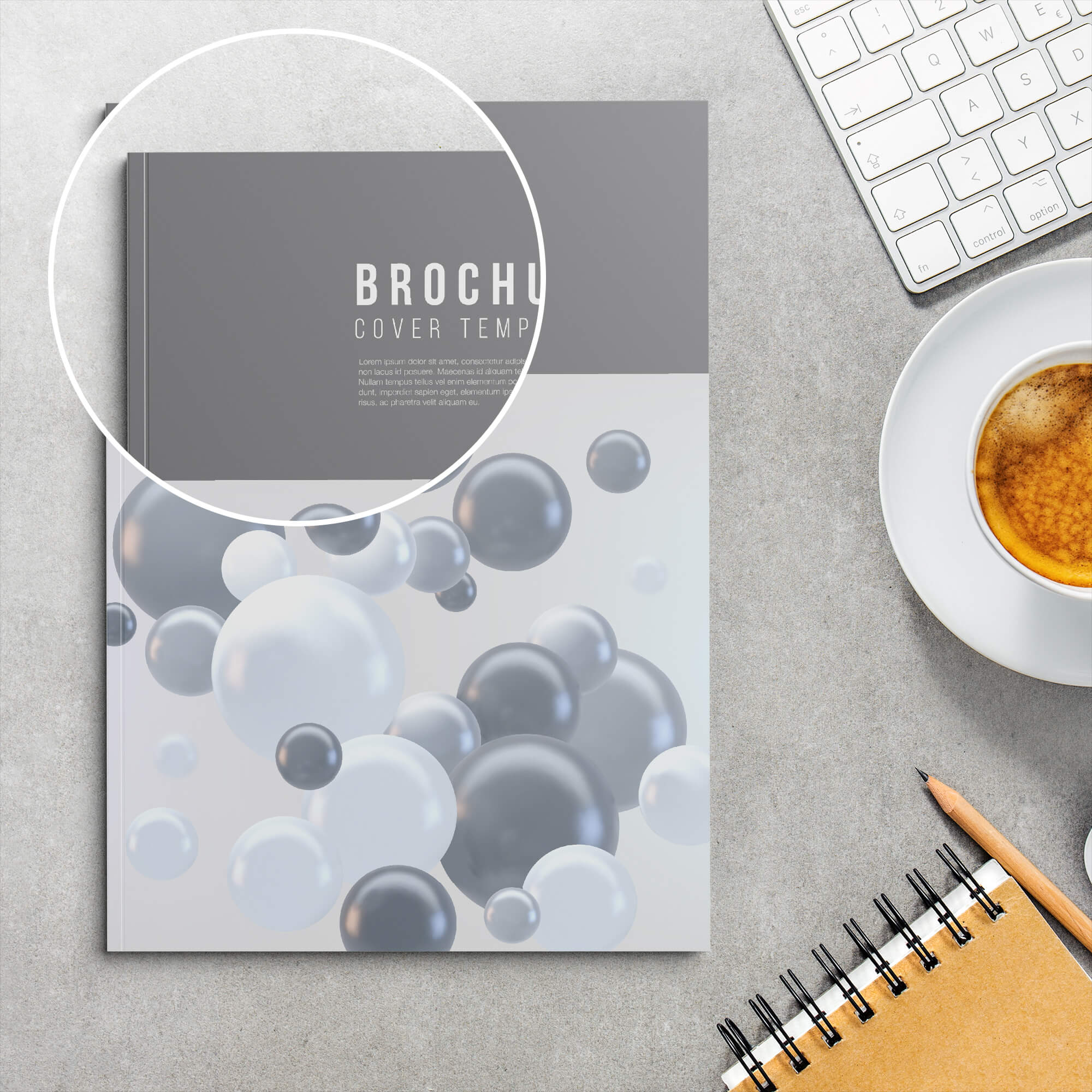 Close Up of a Free Soft Cover Mockup PSD Template