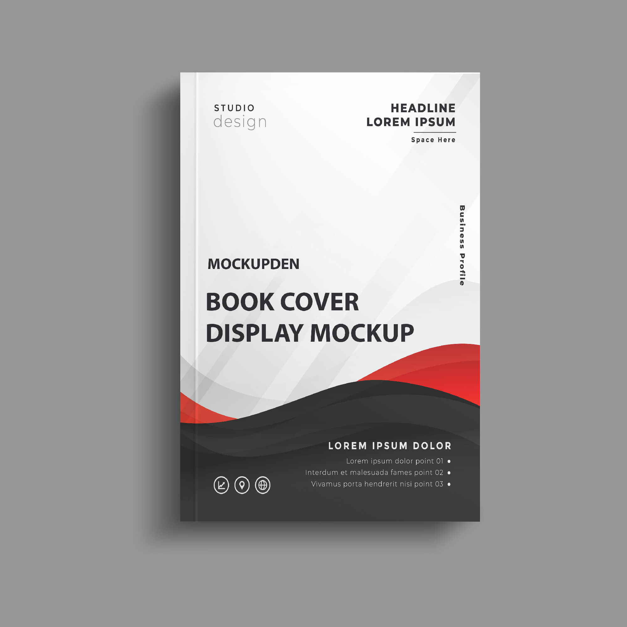 Design Free Book Cover Display Mockup PSD Template