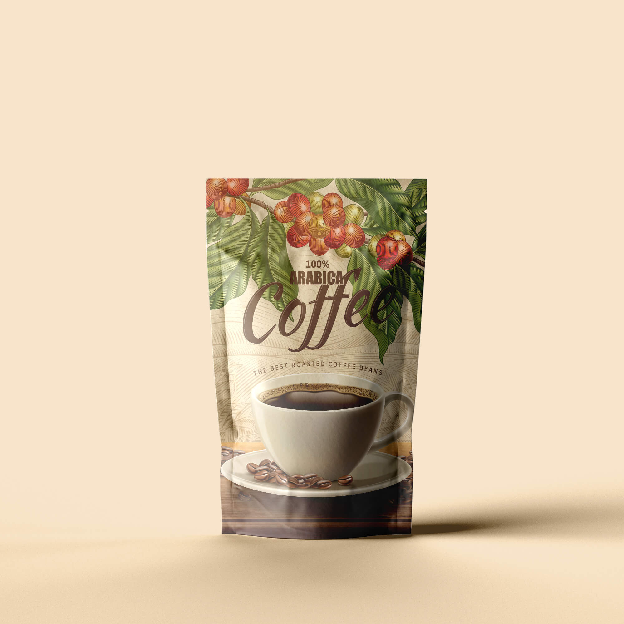 Design Free Coffee Packaging Mockup PSD Template
