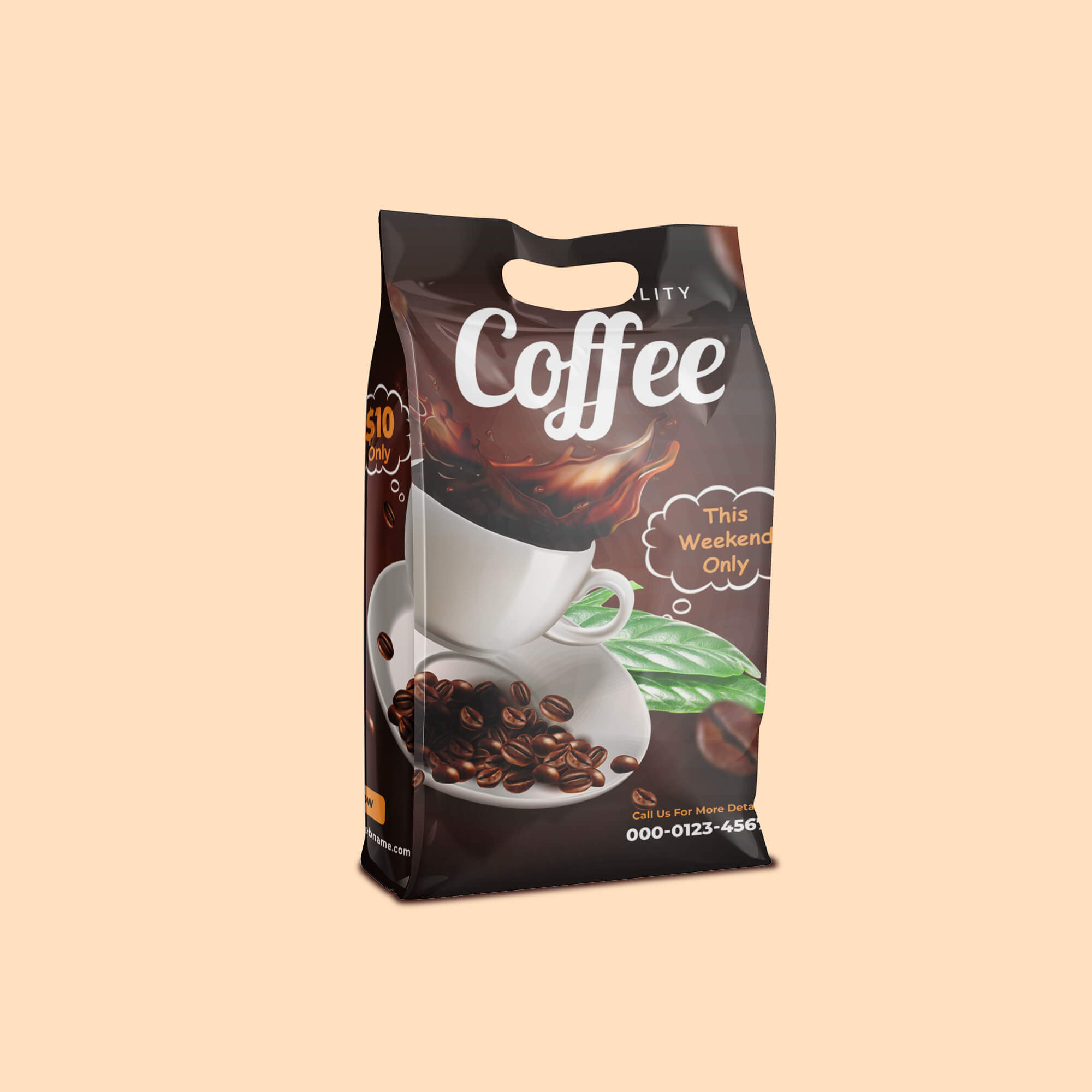 Design Free Coffee Packaging Mockup PSD Template (2)