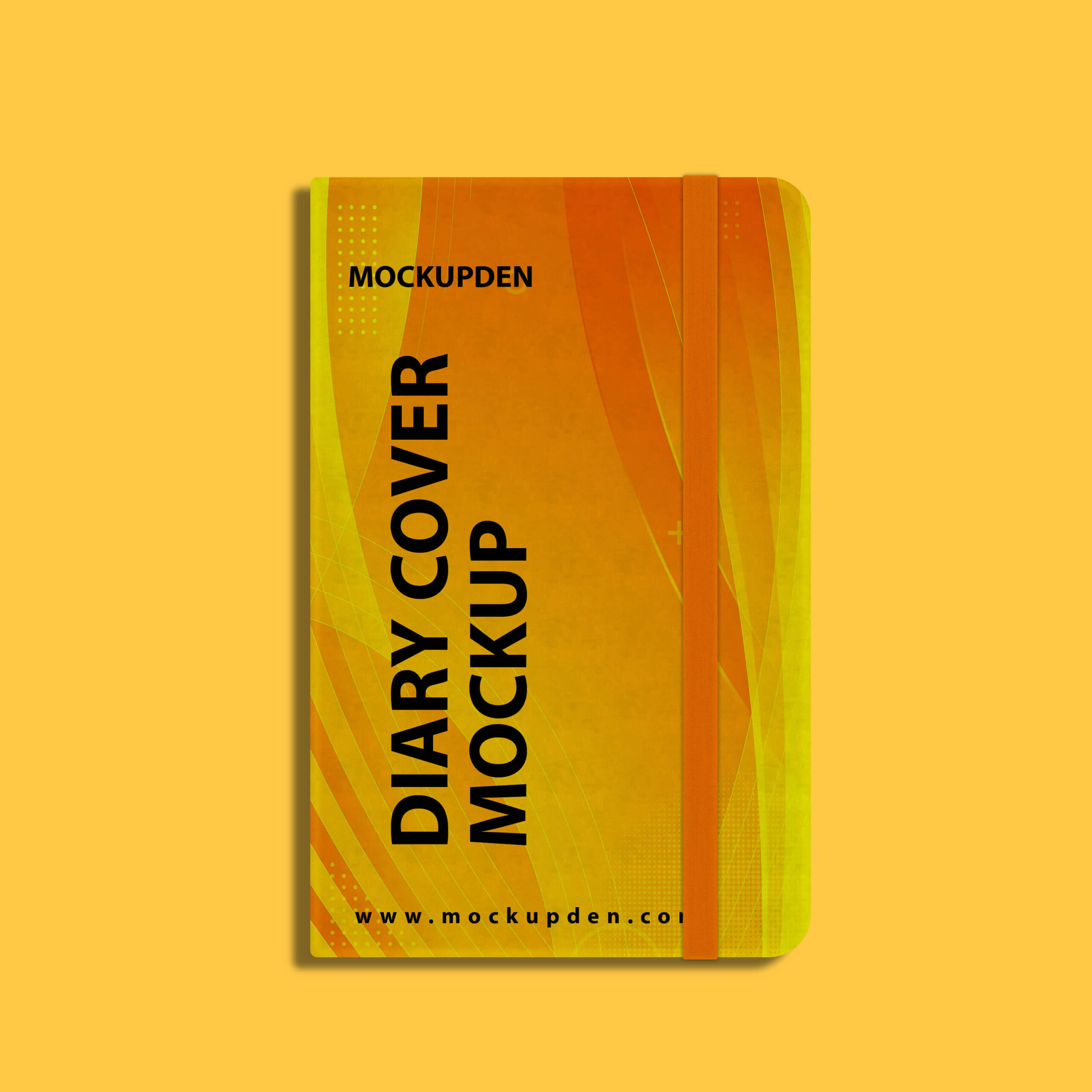 Design Free Diary Cover Mockup PSD Template