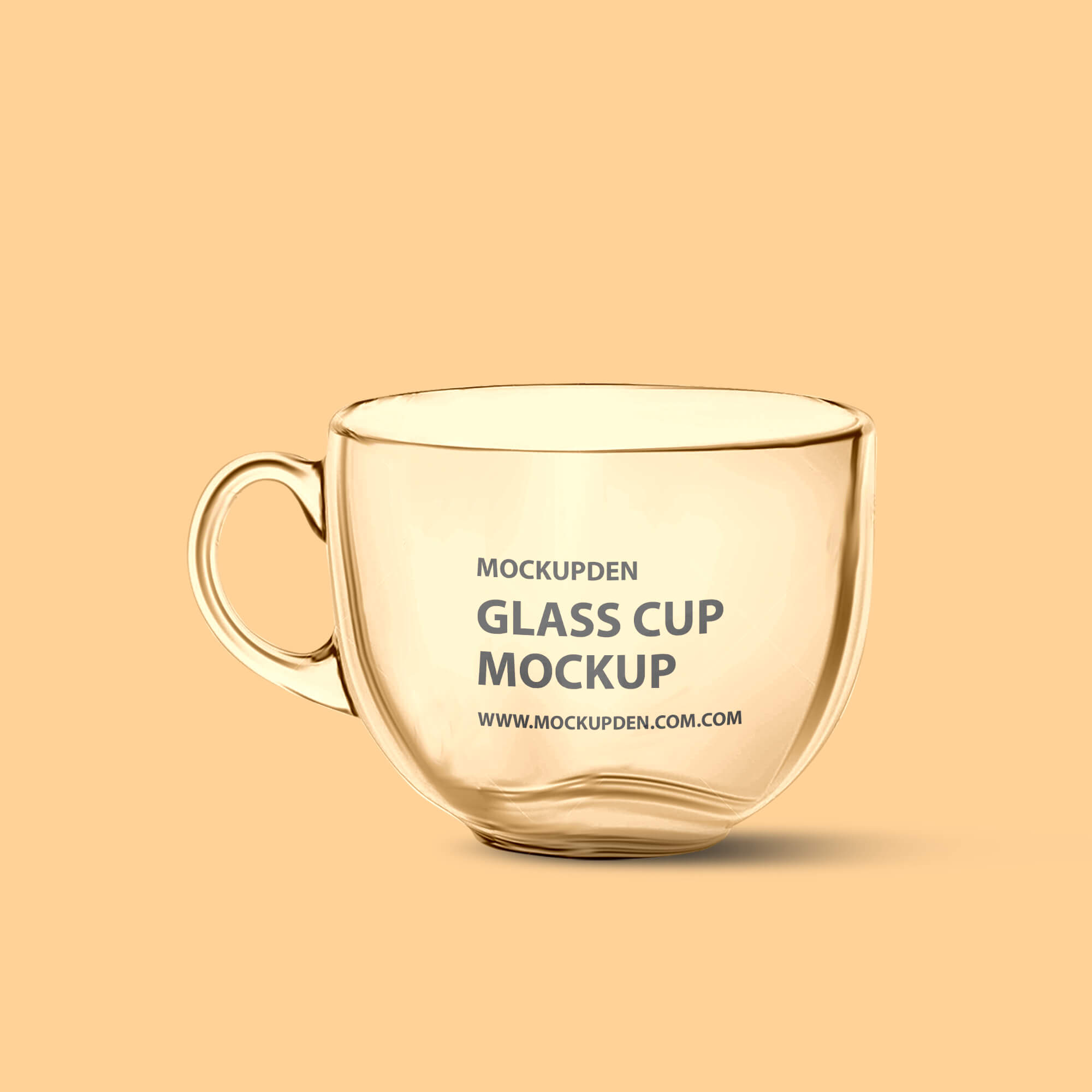 Design Free Glass Cup Mockup PSD Template