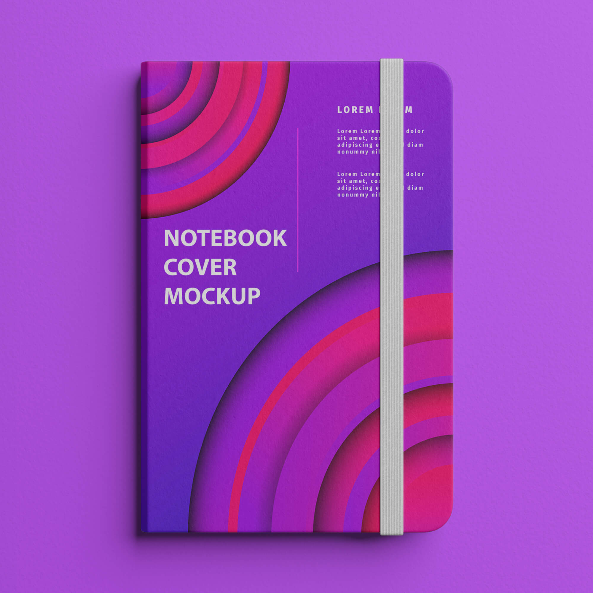 Design Free Notebook Cover Mockup PSD Template