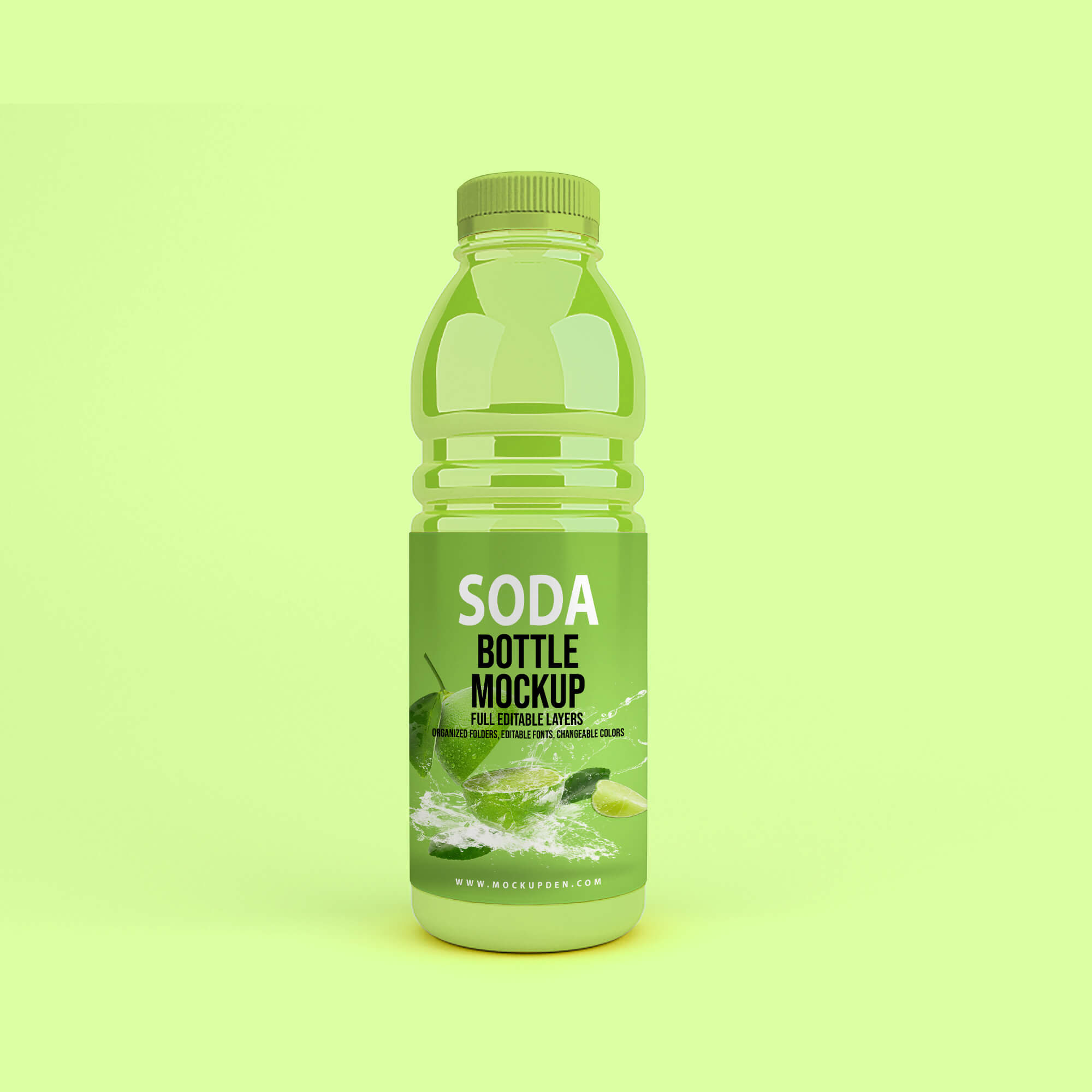 Design Free Soda Bottle Mockup PSD Template (2)
