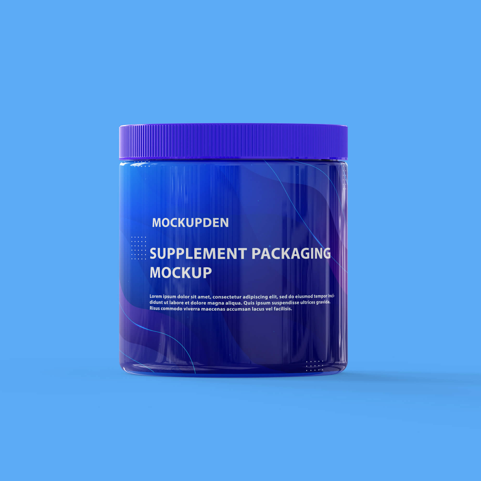 Design Free Supplement Packaging Mockup PSD Template