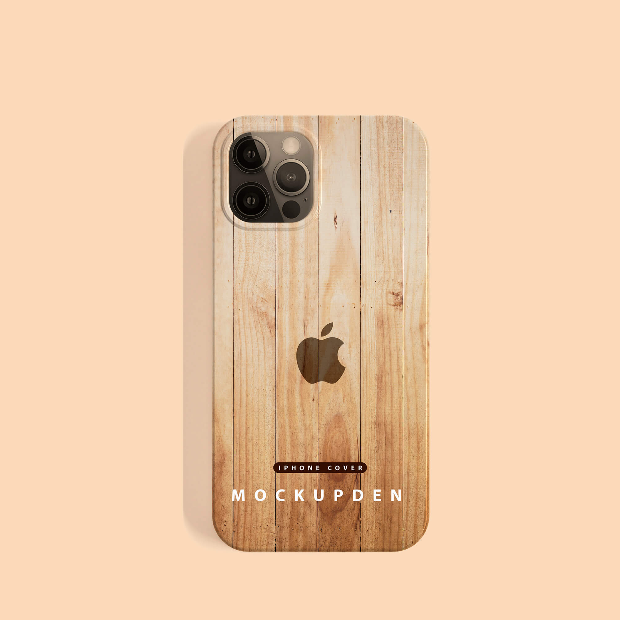 Design Free iPhone Cover Mockup PSD Template