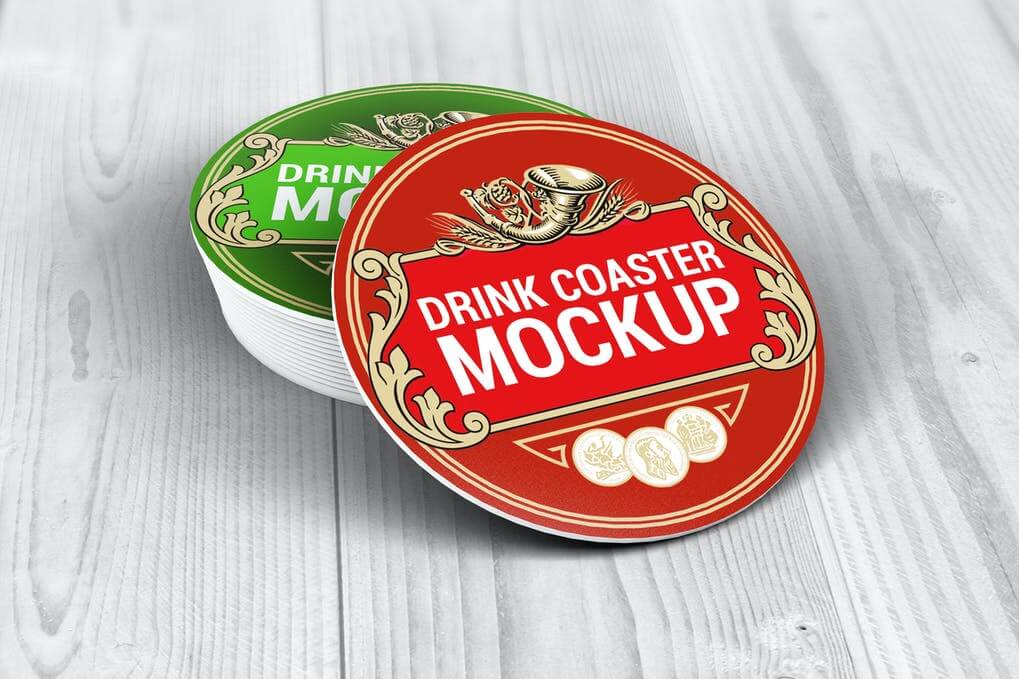 Drink Coasters Mock-Up