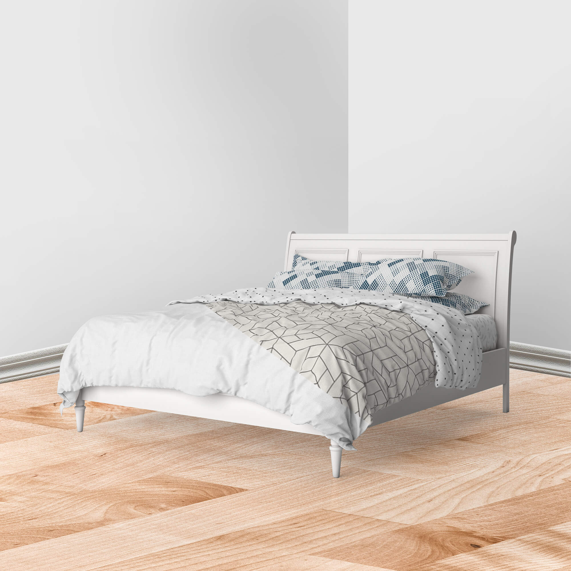 Editable Free Bed Linen Mockup PSD Template