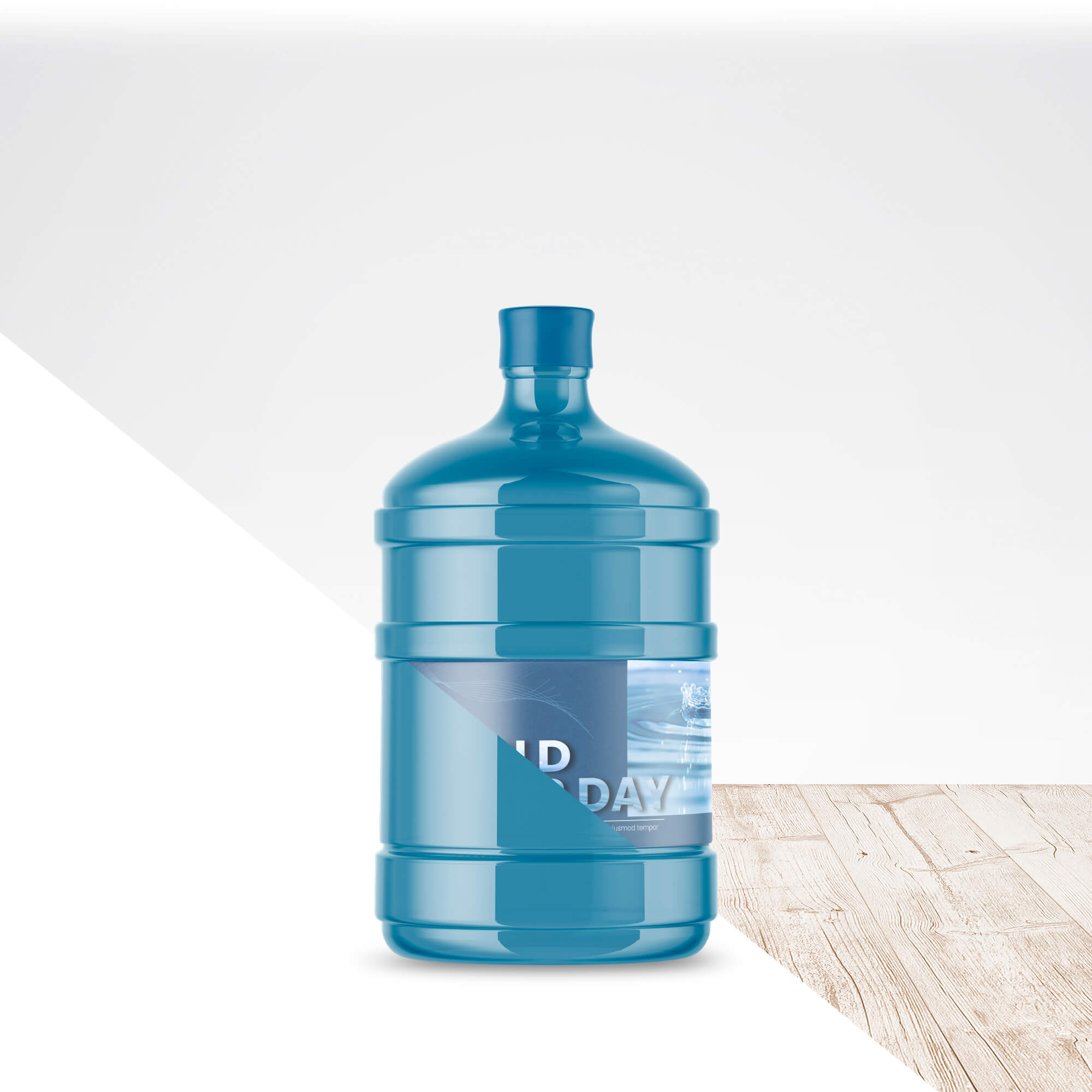 Editable Free Big Bottle Of Water Mockup PSD Template