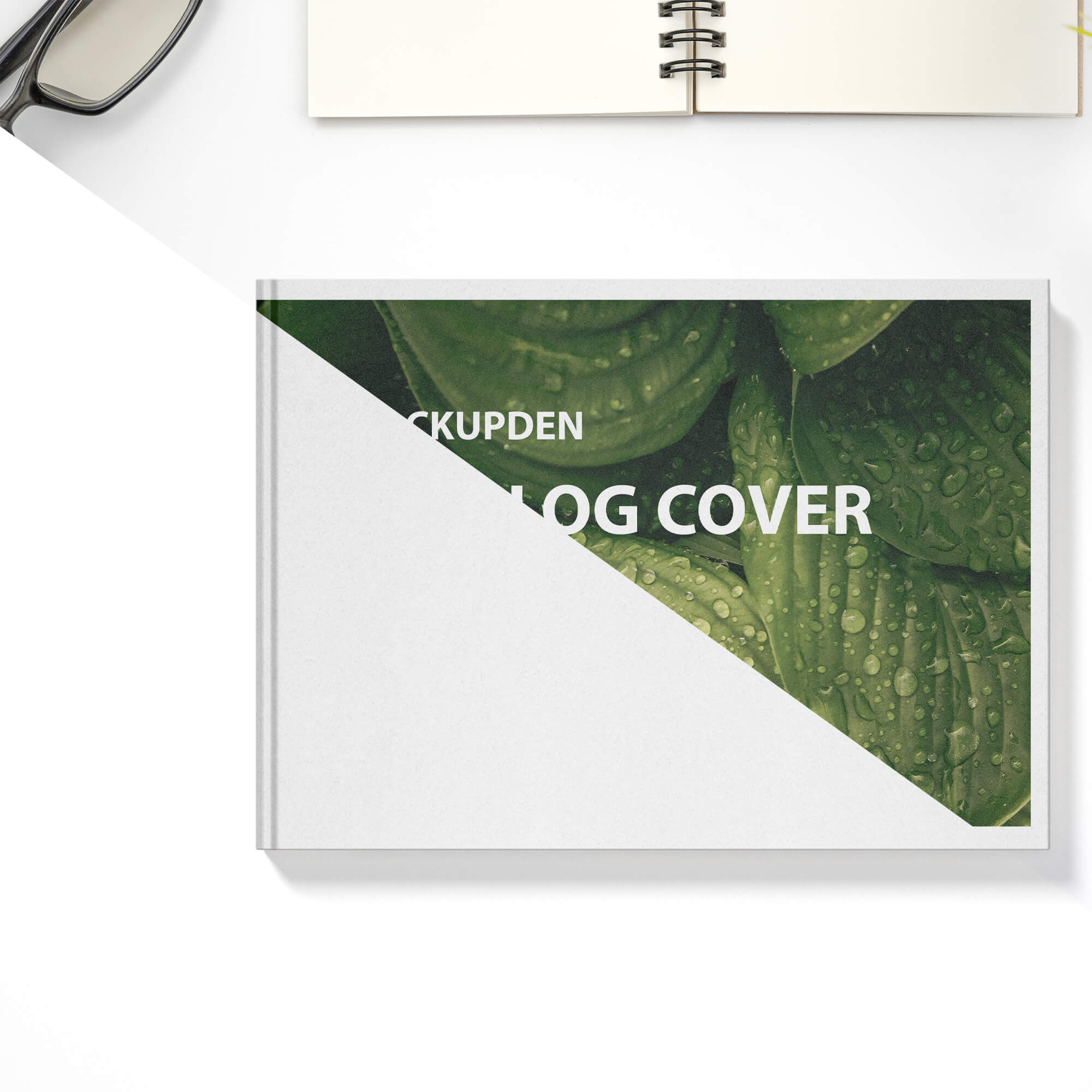 Editable Free Catalog Cover Mockup PSD Template