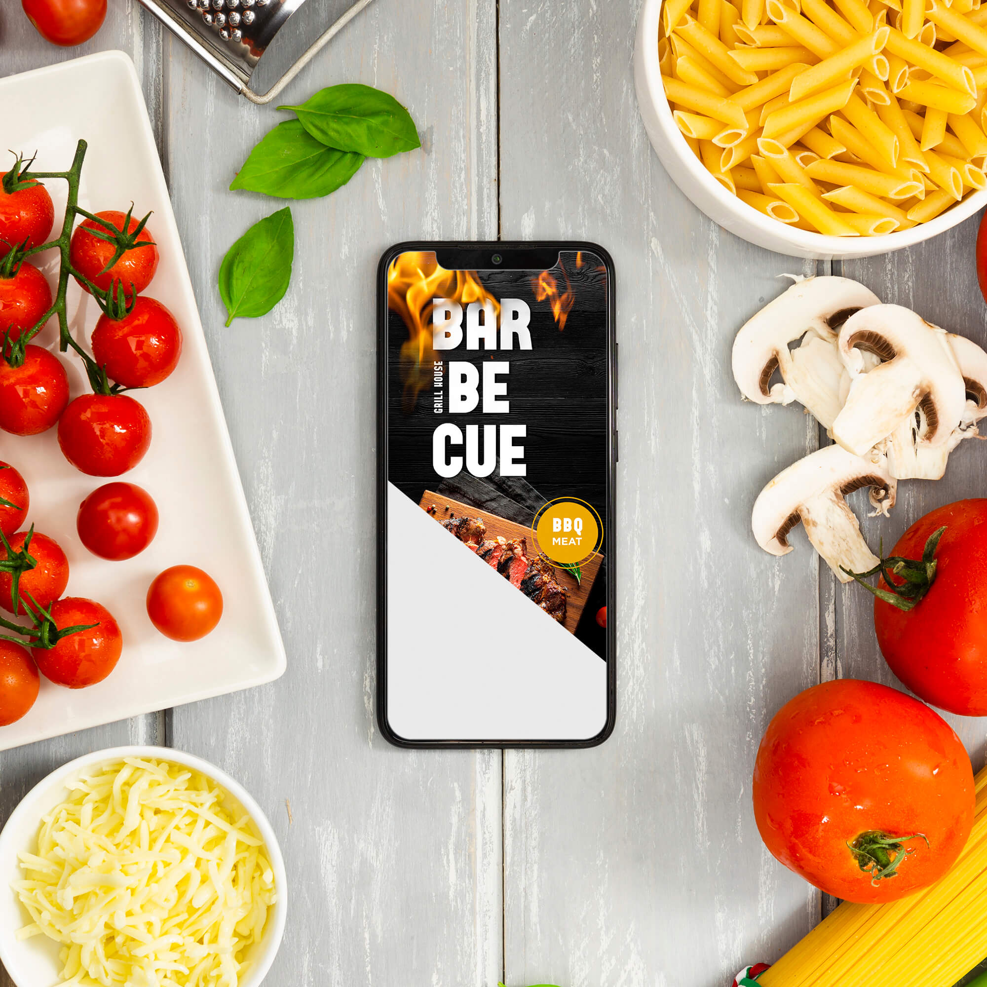 Editable Free Cooking Mockup PSD Template