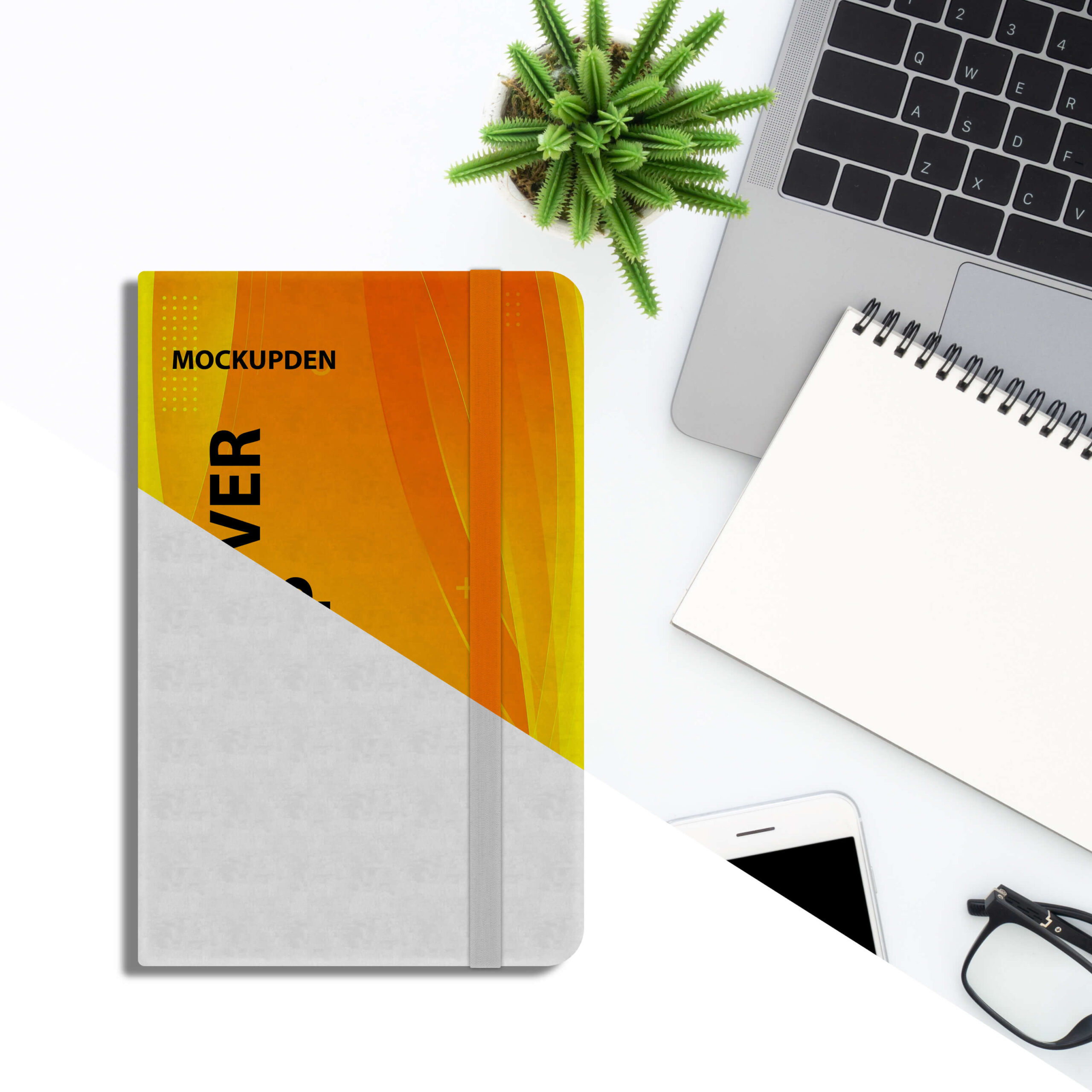 Editable Free Diary Cover Mockup PSD Template