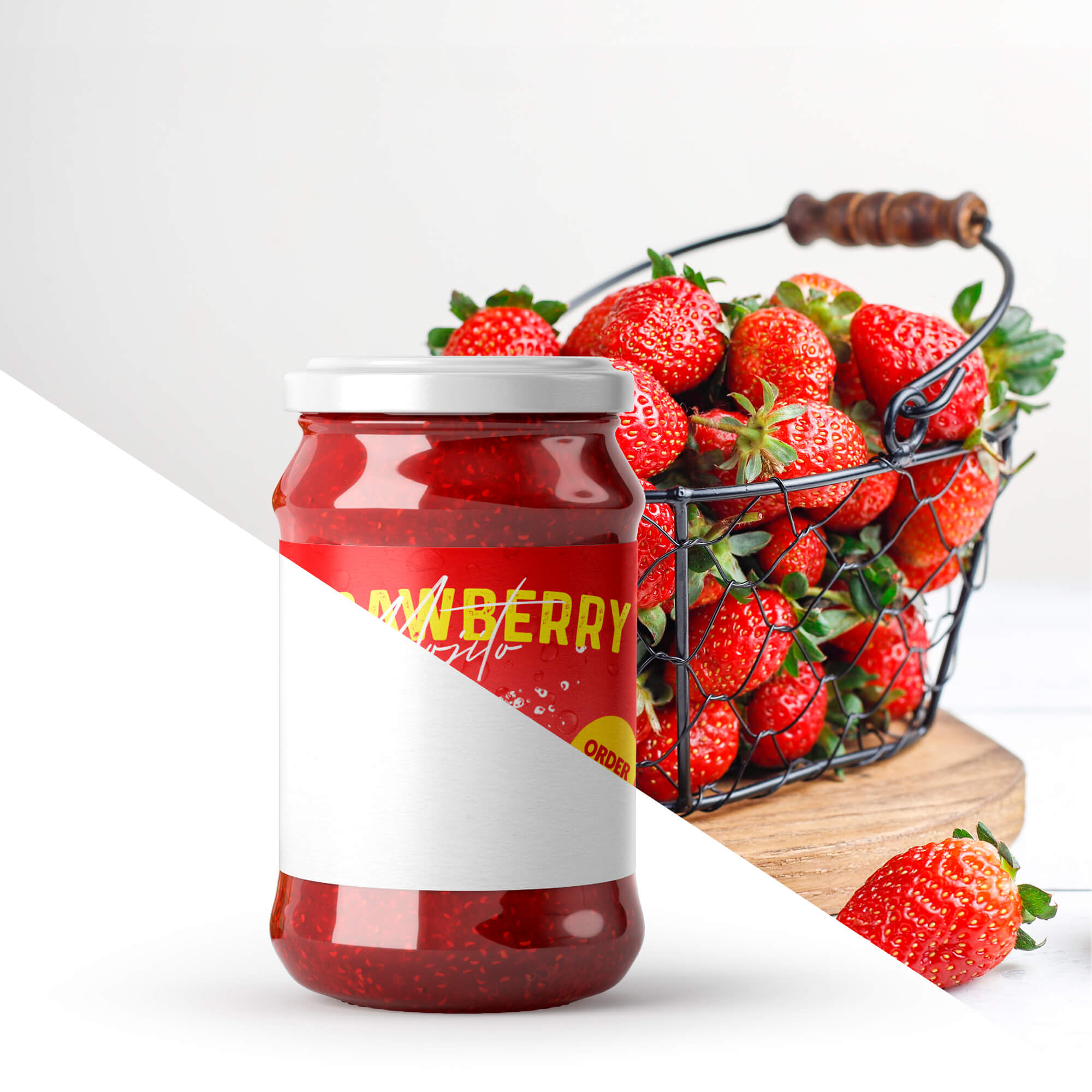 Editable Free Jam Bottle Mockup PSD Template