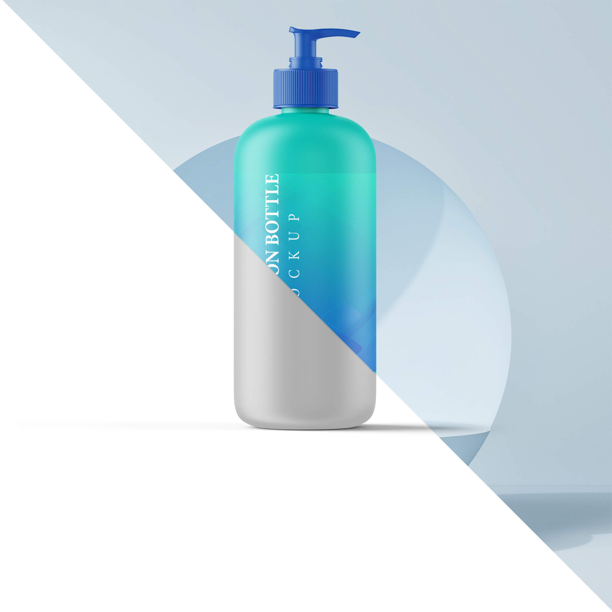Editable Free Lotion Bottle Mockup PSD Template