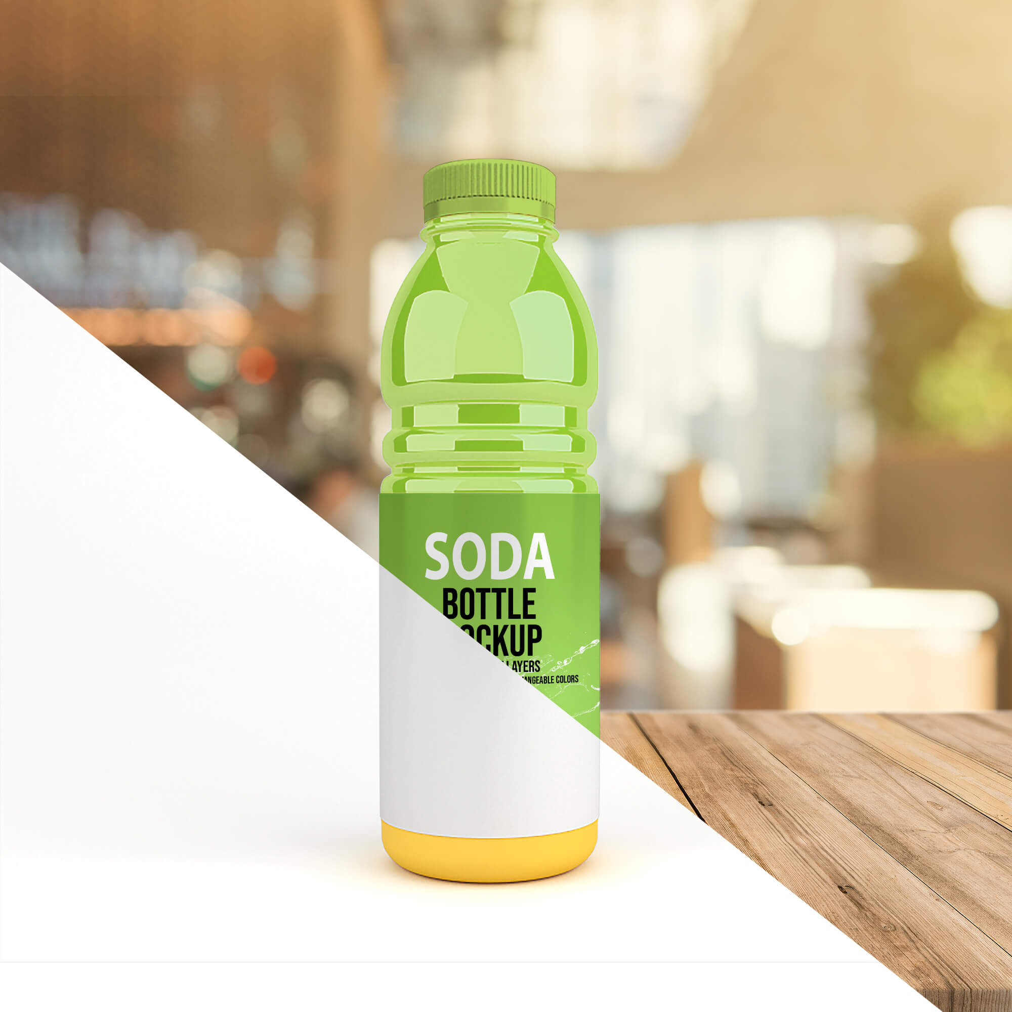 Editable Free Soda Bottle Mockup PSD Template (2)