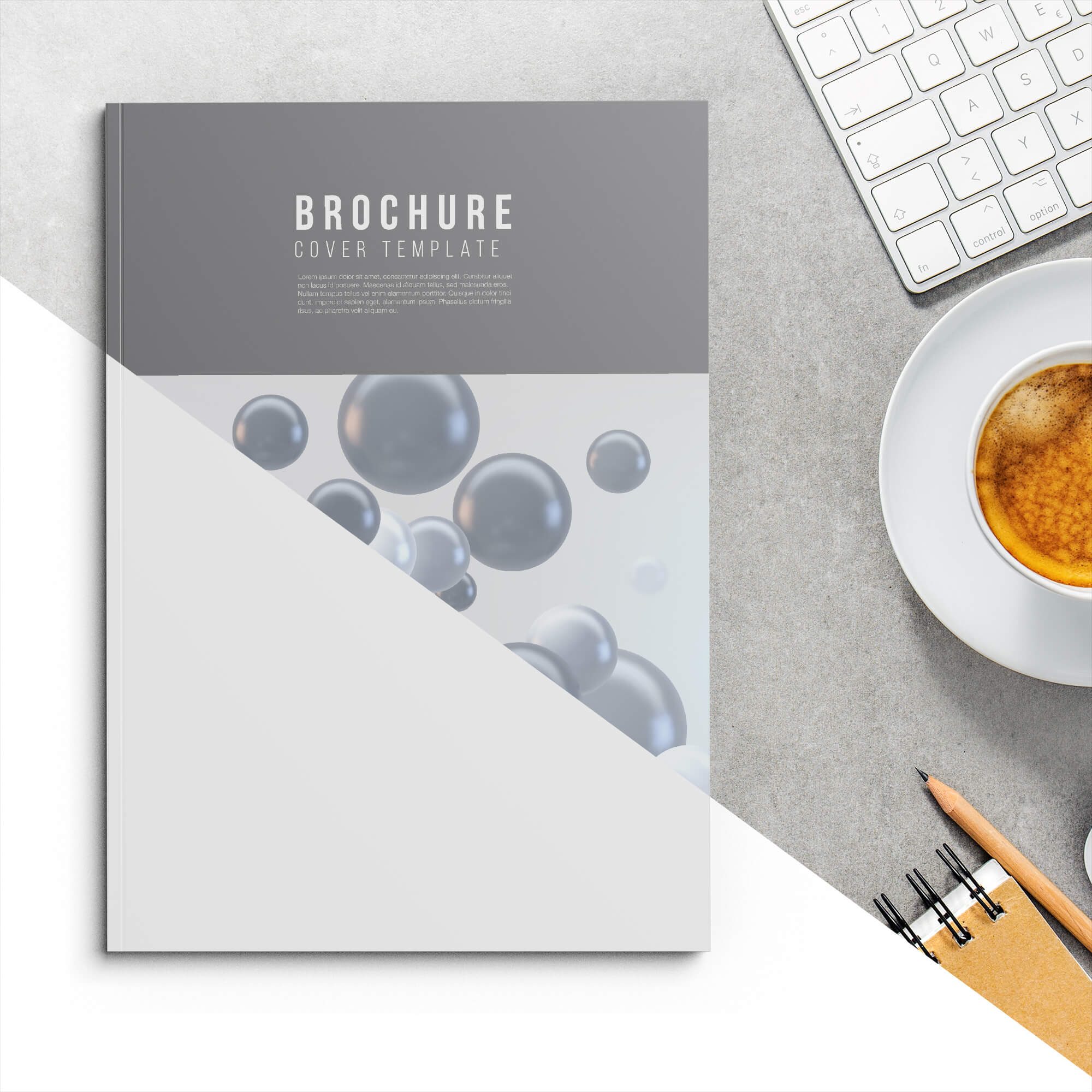 Editable Free Soft Cover Mockup PSD Template
