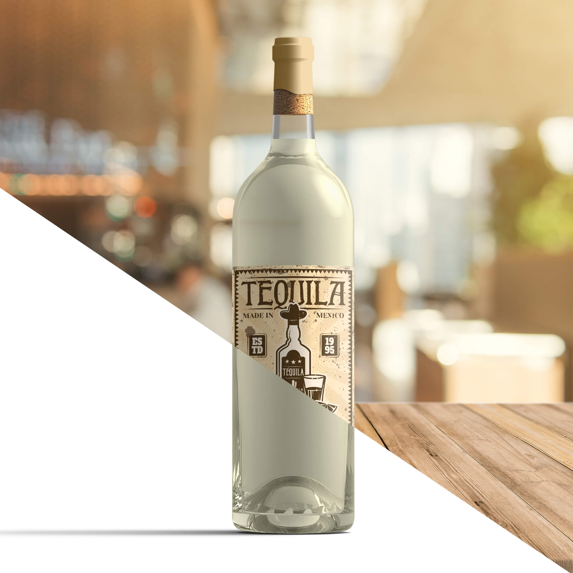 Editable Free Tequila Bottle Mockup PSD Template (2)