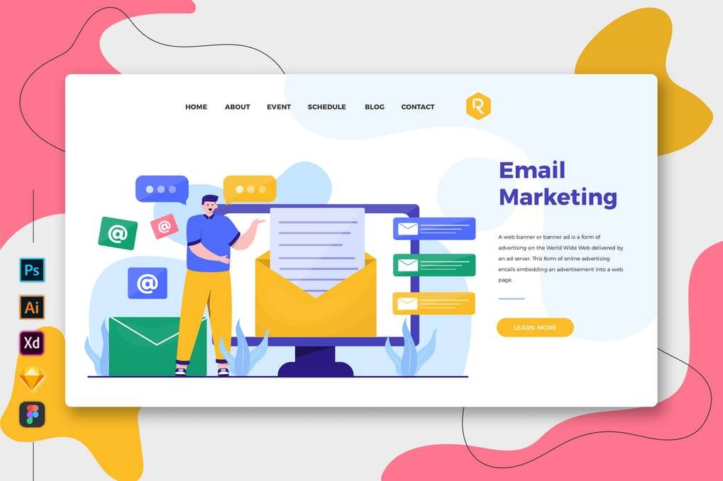 Email Marketing - Web & Mobile Landing Page