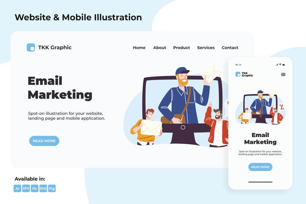 Email Marketing web & mobile designs