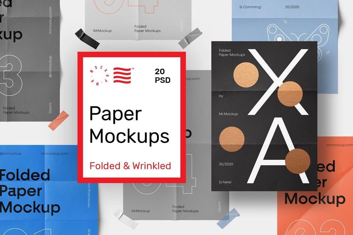Folded Paper Mockups