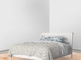 Free Bed Linen Mockup PSD Template