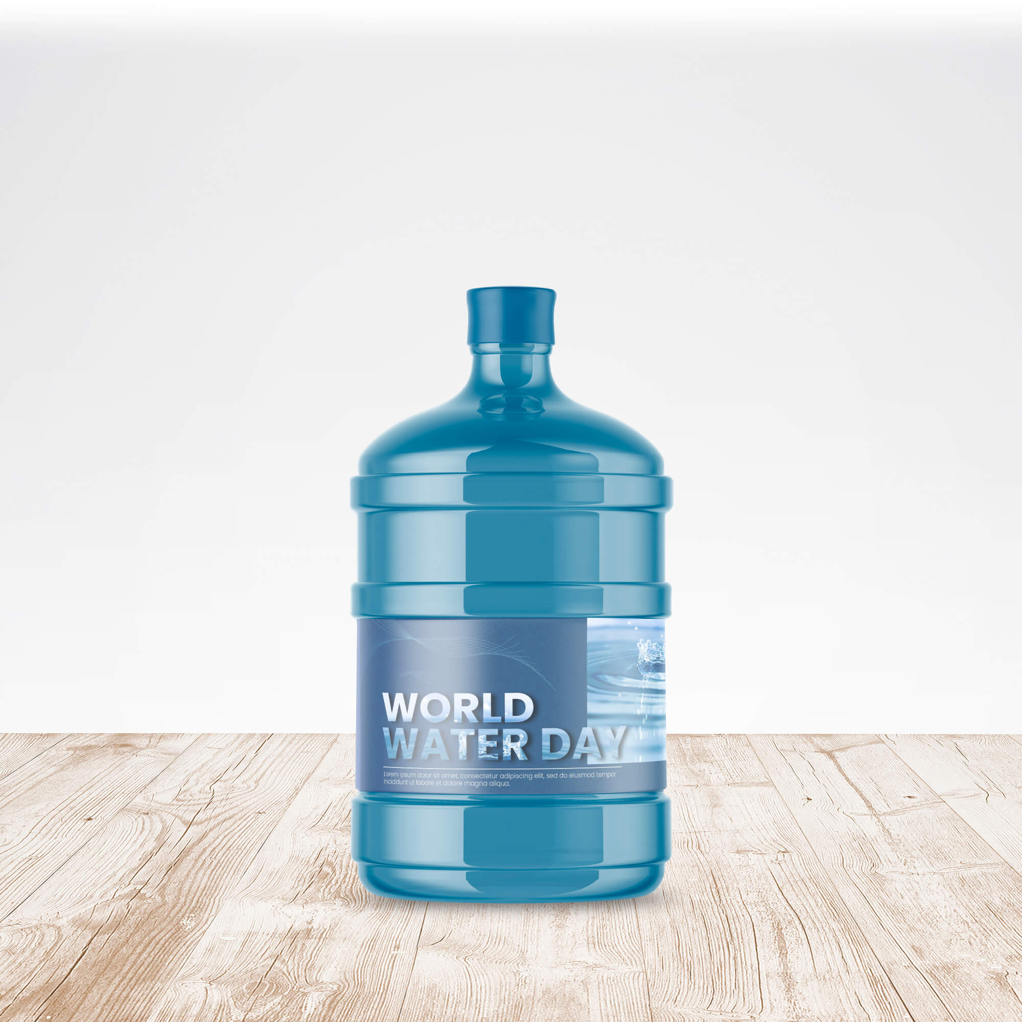 Free Big Bottle Of Water Mockup PSD Template