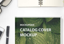 Free Catalog Cover Mockup PSD Template