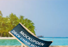 Free Deck Chair Mockup PSD Template
