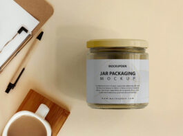 Free Jar Packaging Mockup PSD Template