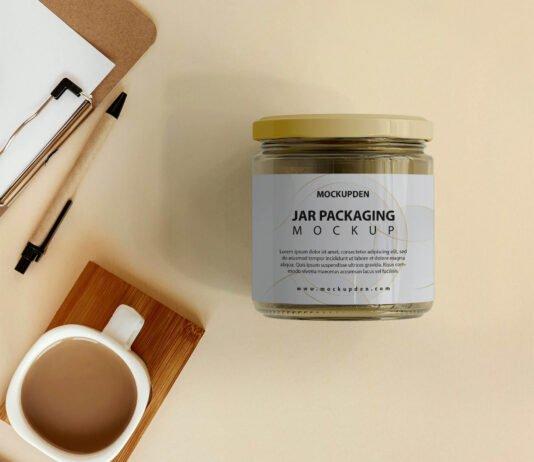 Free Jar Packaging Mockup PSD Template