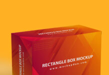 Free Rectangle Box Mockup PSD Template