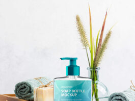 Free Soap Bottle Mockup PSD Template