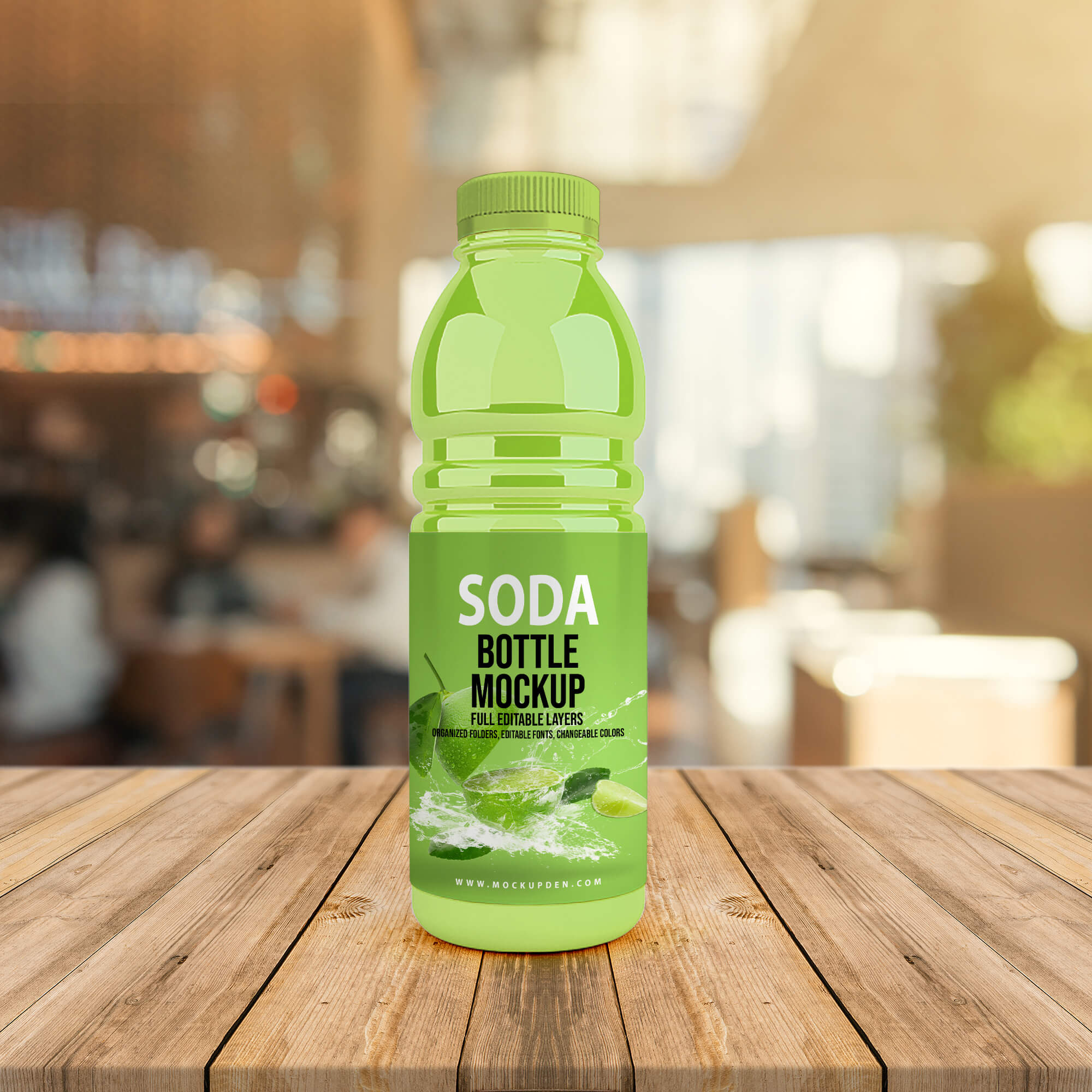 Free Soda Bottle Mockup PSD Template (2)