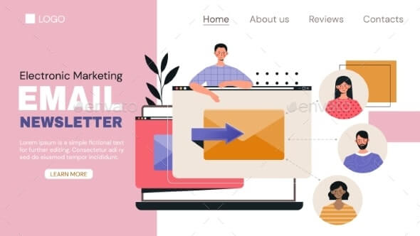 Marketing Web Page Template for Email