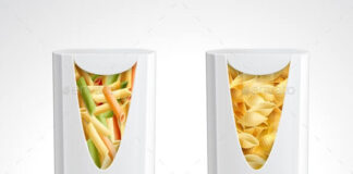 Pasta Package Realistic Icon Set