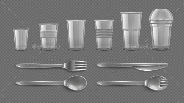Realistic Disposable Tableware