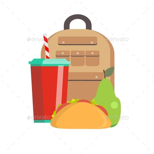 School Lunch Box. Children's Lunch Bag with