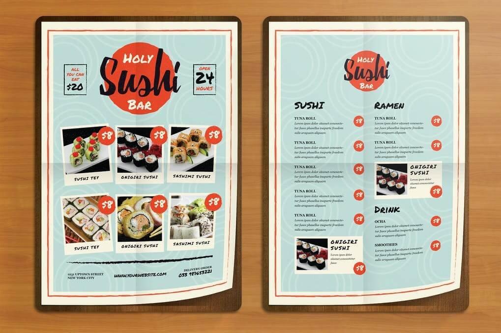 Sushi Bar Flyer Menus