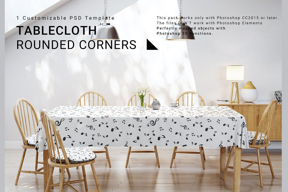 Tablecloth with Rounded Corners Set (1)