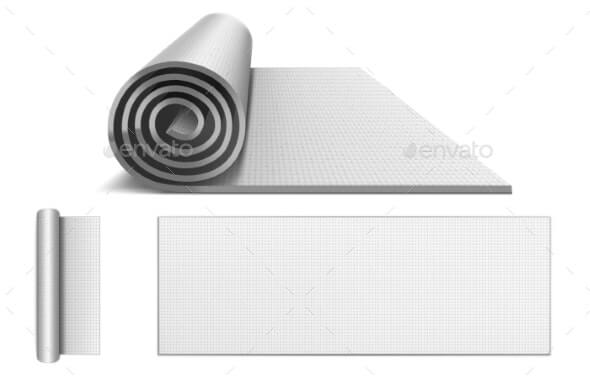 Yoga Mat, Blank Rolled Up Carpet for Pilates