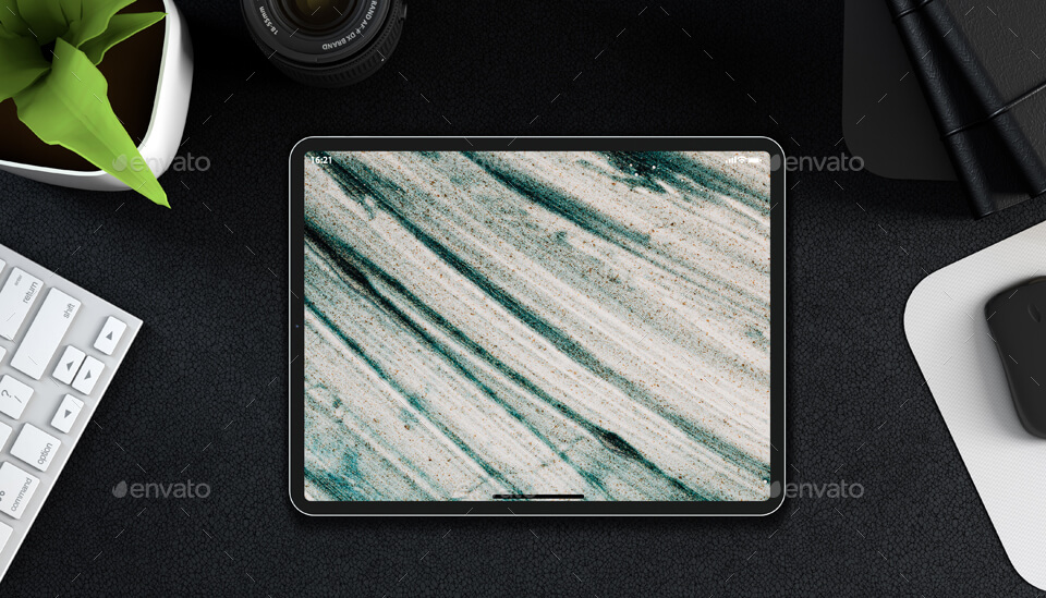 iPad Pro PSD Mock-ups with Backgrounds
