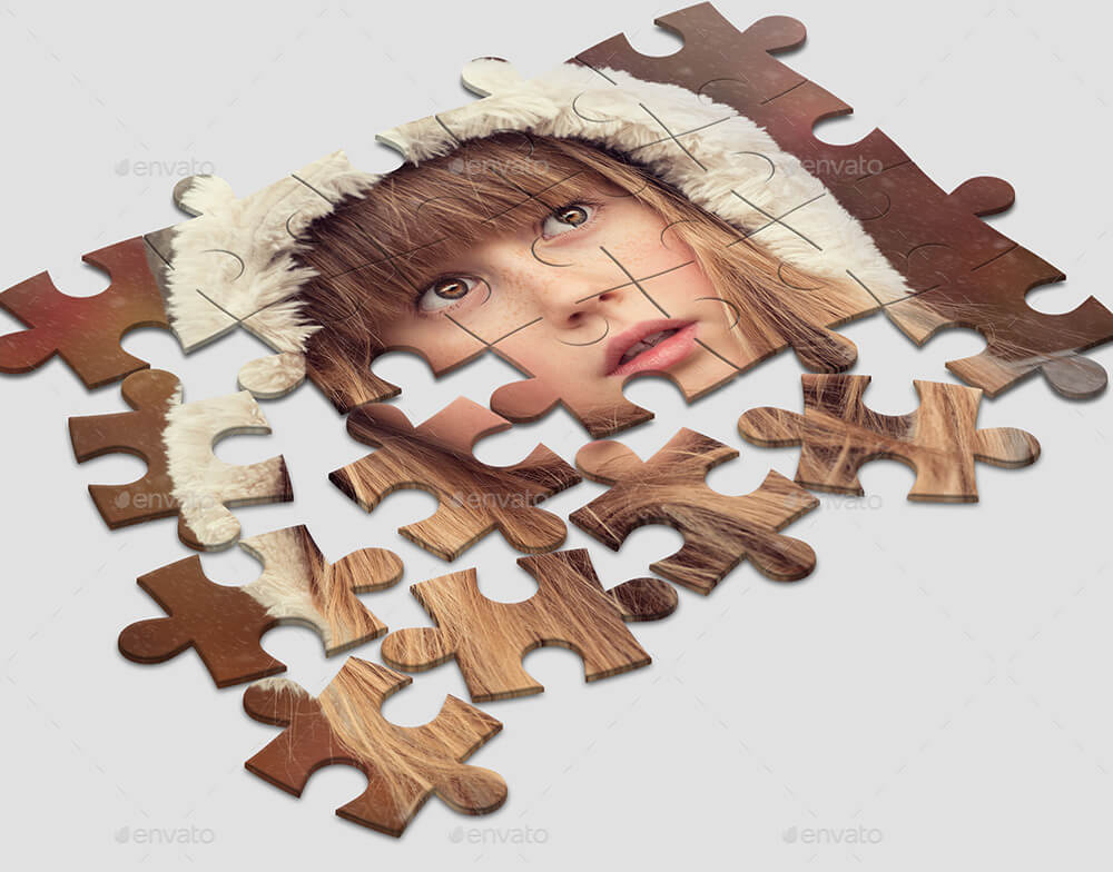 3D Puzzled Mock-Up